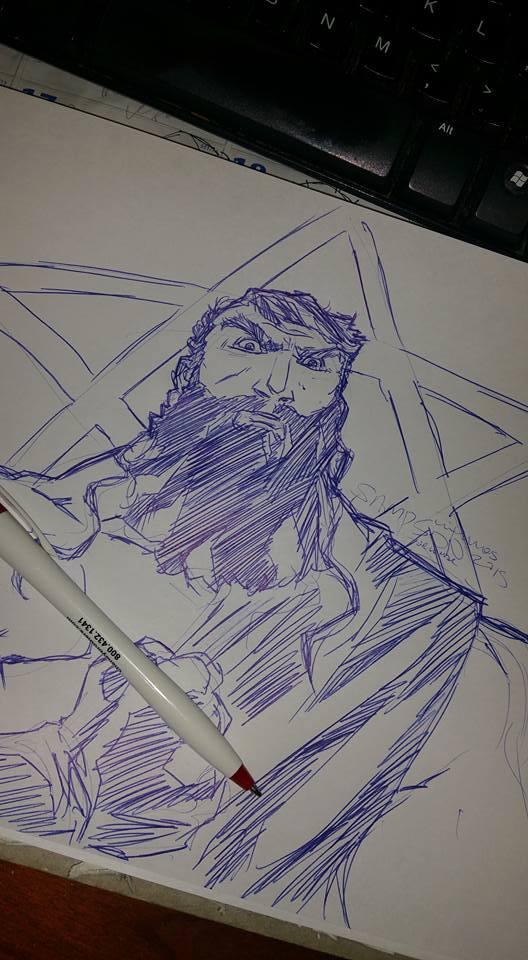 Samson Sketch by Aris